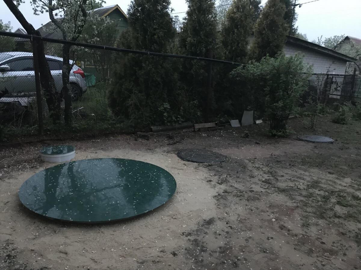 Септик Август АТ8, слив воды в уже имеющиеся на участке колодцы